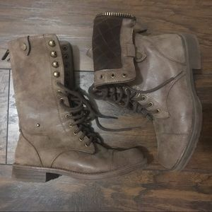 Dollhouse Brown Moto/Combat Boot Size 6